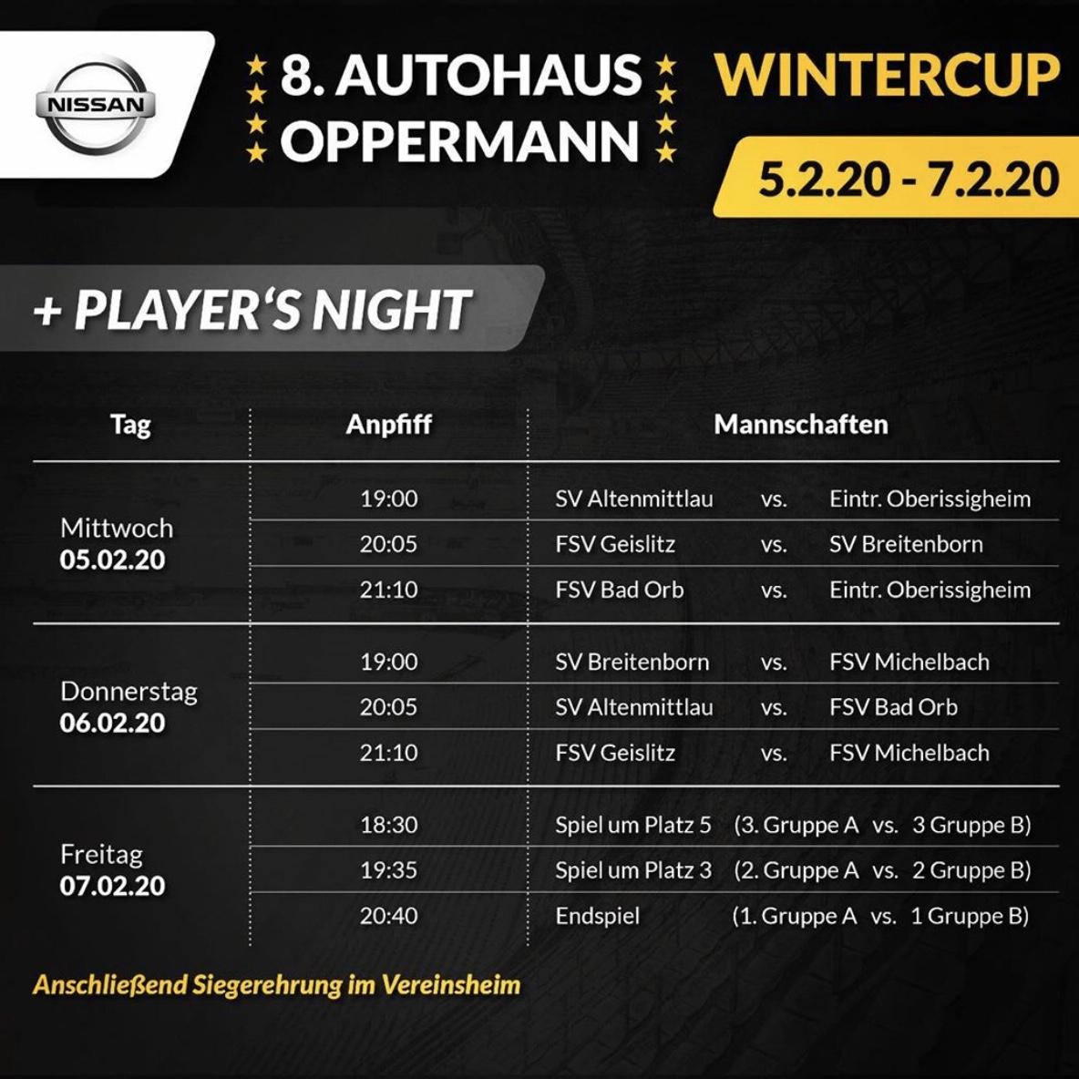 Autohaus Oppermann Wintercup 2020
